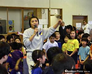 レスリング 伊調馨、地元八戸市で指導