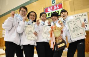 名寄協会女子、4年連続全国 北海道ジュニアカーリング連覇