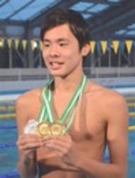 初の国際大会で金2、銀1 伊東高水泳部・松本選手