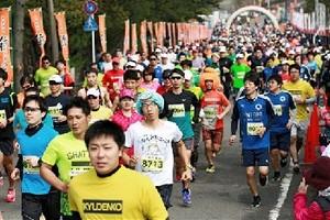 マラソン 潮風受け1600人爽快ラン 芦北うたせマラソン