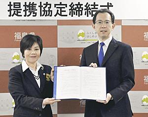 ゴルフで地域活性化を 福島県と日本女子プロゴルフ協会が協定