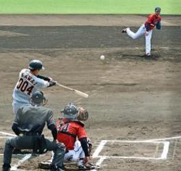 野球 独立リーグ選抜と巨人3軍が練習試合