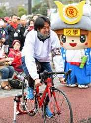 サッカー元栃木SC、永井さん 有志集団で自転車大会応援