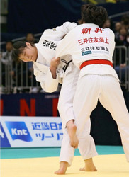 全日本選抜体重別柔道 新添(70キロ級)が準優勝