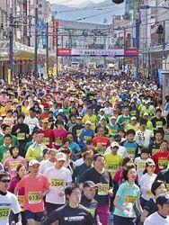 2669人、春風とゴール 恐竜王国さくらマラソン