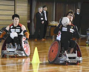 車いすラグビー日本代表が福島合宿 強化指定選手ら17人参加