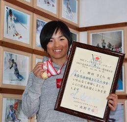スキー 旭川神居小の増田が初優勝 全国ジュニア回転
