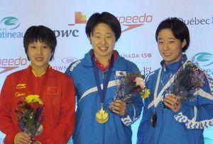 佐々木那奈選手、飛び込みカナダ大会で優勝