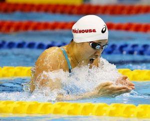 水泳 鈴木聡美、好タイム 復活へ手応え