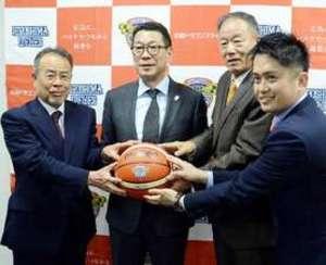 バスケBリーグのチェアマンが広島訪問 広がりを期待