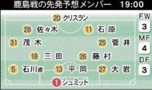 J1仙台、16日ホーム鹿島戦