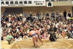 迫力満点の大相撲高崎巡業 アリーナに6800人