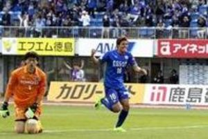 J2徳島、名古屋と2-2ドロー