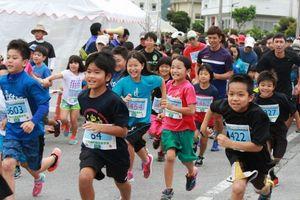 新緑の塩屋湾駆ける トリムマラソン