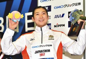 池江、女子初の5冠 5種目で世界切符、競泳日本選手権
