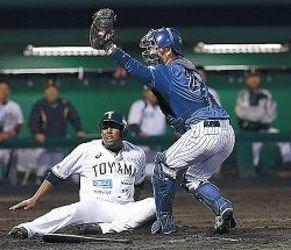 三塁踏めず完封負け ミリスタ、富山に0-9