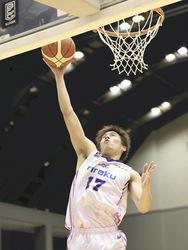 福島敵地で連勝、岩手に競り勝ち バスケB2
