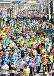 1万3000人爽やかラン ぎふ清流ハーフマラソン