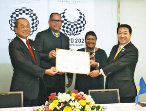 東京五輪 パラオ共和国が常陸大宮に来る。事前キャンプで合意