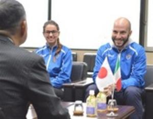 ライフル射撃 五輪金、イタリアのニコロが藤枝市訪問