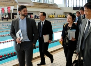 水球 カナダ協会が神戸視察 東京五輪合宿候補地