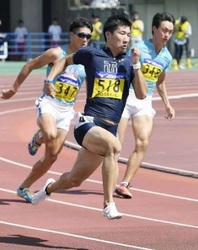 陸上 織田記念 男子100の桐生祥秀(東洋大)9秒台、視界良好