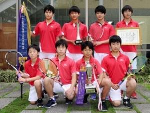 甲南が日本一 全国選抜中学テニスで男子団体