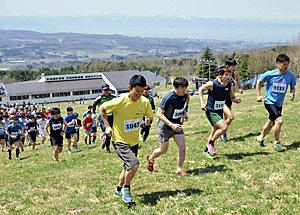 「ゲレンデ逆走」270人が一気に 猪苗代でマラソン開幕戦