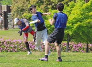 アルティメットフリスビー、三重県内初大会 投げて捕って