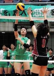 JT守備修正で突き放す 全日本選抜バレー