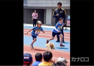 リオ銀の山県選手らが伝授 川崎市で小学生に陸上教室
