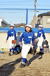 野球少女増えてます 岩手県内軟式スポ少、男子は減