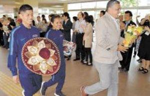 仙台国際ハーフマラソン 8都市の選手団が市長表敬