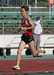 中西、男子1500で大会新 佐賀県陸上選手権