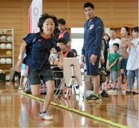 柔道の篠原信一さんと体力測定 熊本県内の子ども400人