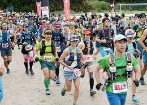 110キロ駆ける 阿蘇でトレイルラン大会
