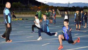 笠岡に中学生陸上クラブ4月発足