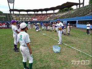 元プロ野球選手 平塚で児童らに熱血指導