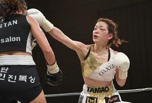小沢、僅差でタイトル届かず ボクシングWBO女子王座戦