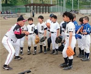 元プロ選手7人が小学生に野球指導