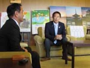 スポーツ庁 鈴木大地長官が視察 山口県知事を訪問