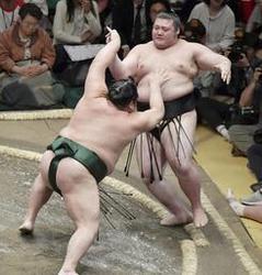 大相撲 豊山、千代大龍に押し出され2敗目