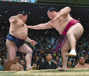 大相撲 遠藤、稀勢から初金星 運も味方に今度こそ三役へ