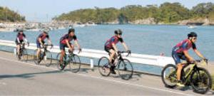 自転車ツール・ド・東北 新コース関係者が試走
