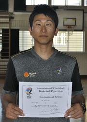 小野裕樹さん、車いすバスケの国際レフェリー資格取得
