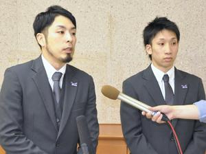 福島ファイヤーボンズ、知事に成績報告 経験生かし来季B1へ
