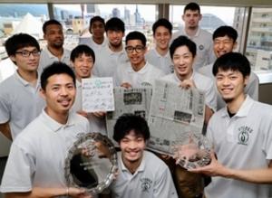 バスケBリーグ 1部昇格の西宮が神戸新聞社訪問