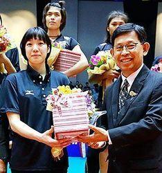 バレー 糸満市出身の山内がMVP U-23女子アジア初制覇