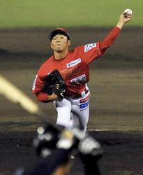 福島・笠原が力投、8回途中1失点 野球BCリーグ