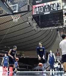 栃木、会場で最後の調整 バスケBリーグCS